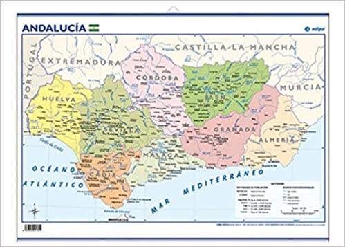 Andalucía, político: Mapas Mini-murales (): Amazon.es ...