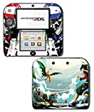 Mt Silver Red Special Edition Blue Pikachu Charizard Blastoise Pokemon Go Video Game Vinyl Decal Skin Sticker Cover for Nintendo 2DS System Console