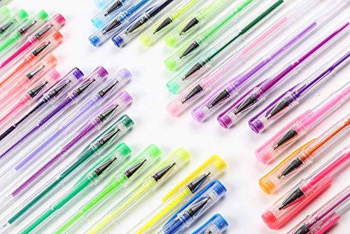 Shuttle Art 240 Pcs Gel Pens,Gel Pen Set with case for Adult Coloring Books by Shuttle Art (Image #1)