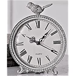 Glory & Grace 2018 Edition Songbird Metal Case Table Clock