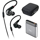 Audio-Technica ATH-E40 E-Series Professional In-Ear Monitor Headphones + FiiO A1 Portable Headphone Amp (Silver)