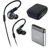 Audio-Technica ATH-E40 E-Series Professional In-Ear Monitor Headphones + FiiO A1 Portable Headphone Amp (Silver) For Sale