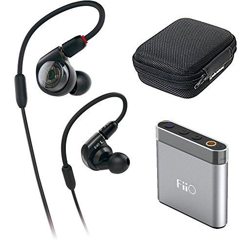 Audio-Technica ATH-E40 E-Series Professional In-Ear Monitor Headphones + FiiO A1 Portable Headphone Amp (Silver) by Audio-Technica