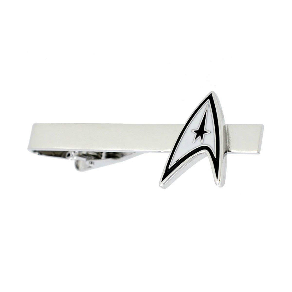 Star Trek Command - Clip de corbata de metal plateado, diseño de ...