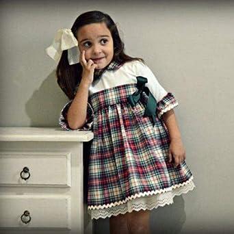 NO Non-neverKids Baby Girls Princess Dress Flare Sleeve Party Pageant Lattice Lace Dress Sundress