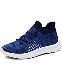 Walking Running Tennis Shoes Men - Mesh Breathable Lightweight Sports Lace Up Sneakers