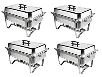 Chafer 4 Pack Premier Chafers Stainless Steel Chafer Dish 8 Qt. Capacity Quantity *Bonus 20 MFR Rebate 4 Chafing Dish Sets Brand New Full Complete Chafer Systems. Only From 1Dealz *Plus Bonus 25 Loyalty Card