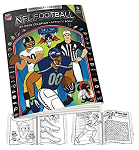 nfl coloring book blackwhite one size - Nfl Coloring Books