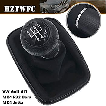 HZTWFC Car Styling PU Leather Gear Shift Knob Lever Stick Pen Gaiter Cover Boot