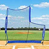 FORTRESS 7' x 7' Baseball L-Screens | Baseball Protector Screens | Baseball Practice Equipment - [Net World Sports]