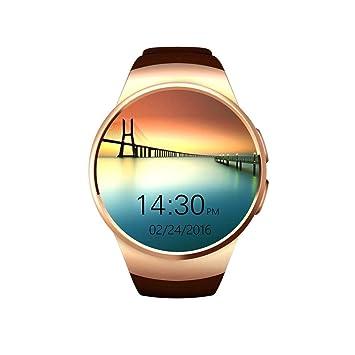 KW18 Reloj Inteligente Bluetooth para teléfono móvil, Soporte para Llamadas y Tarjeta SIM, función de teléfono, Mando a Distancia y Salud; para ...
