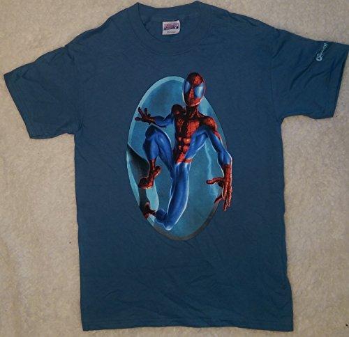 Ultimate Spider-man Swinging Light Purple T-Shirt Adult Medium Graphitti Designs