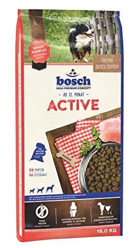 bosch HPC Active | Hundetrockenfutter für ausgewachsene Hunde aller Rassen mit gesteigerter Aktivität | 1 x 15 kg