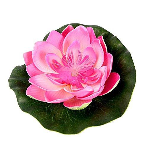 4-Pcs-Artificial-Floating-Decor-Lotus-Water-Lily-Flower-Plant-Decor17cm67inch