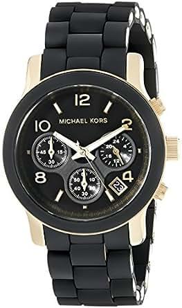 Michael Kors Women's MK5191 Runway Black Stainless Steel Watch