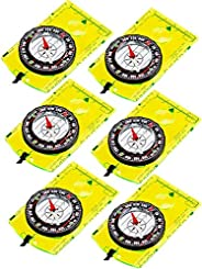 6 Pcs Navigation Backpacking Compass Orienteering Hiking Compass Adjustable Map Reading Compass for Boy Scout