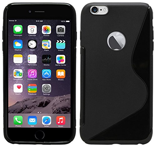 S Case Rubber Back Cover For Apple iPhone 6s  Black
