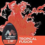 MiO Energy Black Cherry Liquid Water Enhancer Drink Mix (1.62 fl oz Bottles, Pack of 12) & Energy Tropical Fusion Liquid Water Enhancer Drink Mix