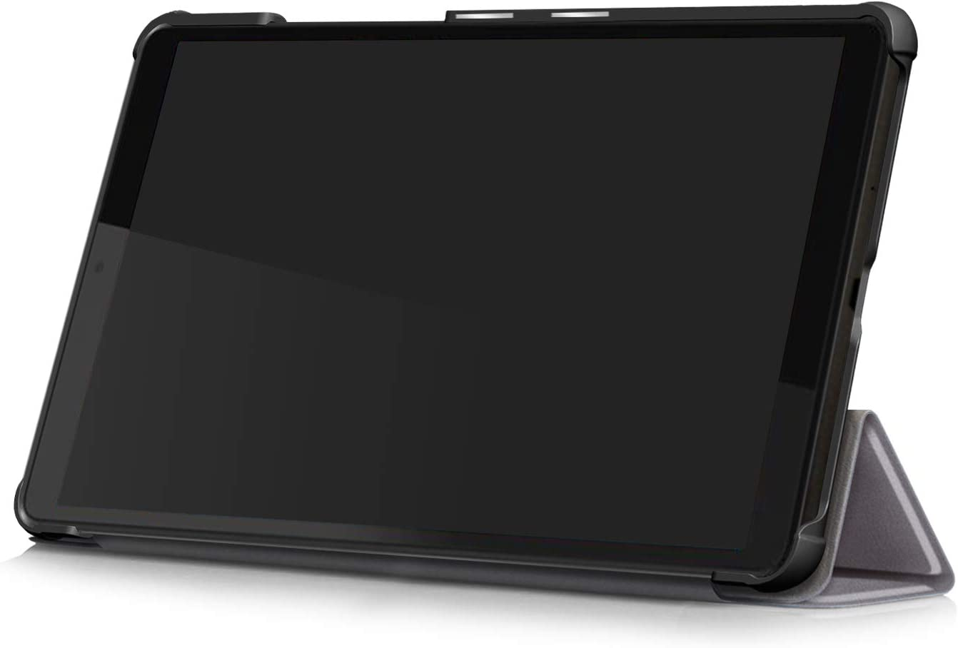 Shinyzone Slim Case for Lenovo Tab M8 8 inch Tablet TB-8505F//8505X,Trifold Stand Smart Cover,Auto Sleep//Wake Function,TPU Bumper Reinforced Corner Protective Case,Black