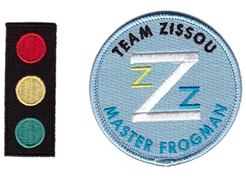 Set of 2 - Traffic Light + Master Frogman Team Zissou Cosplay Costume Patch Set by Titan One - Team Zissou Halloween Costume