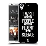 Head Case Designs Fluent In Silence Sassy Quotes Soft Gel Case for HTC Desire 626