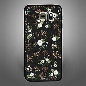 Samsung Galaxy S6 Black White Flowers