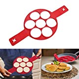 YTH Pancake Mold Ring - Makes the perfect pancakes, eggs, hash browns, brownies in non-stick silicone maker tool. Kitchen bakeware from high grade silicone