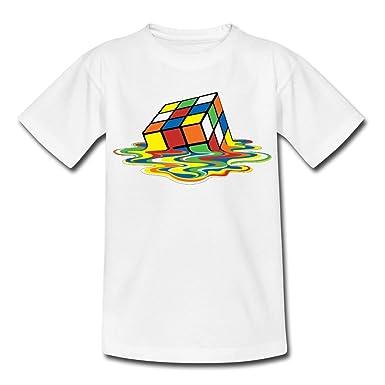 15e7547940781 Spreadshirt Rubik s Cube en Train De Fondre T-Shirt Ado  Amazon.fr ...