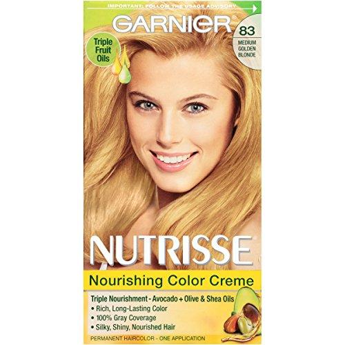 Garnier Nutrisse Nourishing Hair Color Creme, 83 Medium Golden Blonde (Cream Soda)  (Packaging May Vary) (Permanent Hair Cream Dye)