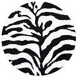 SAFAVIEH Florida Shag Collection SG452 Zebra Print