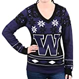 Klew NCAA Womens Big Logo V-Neck Sweater
