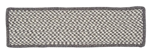 Natural Wool Houndstooth HD36 Stair Tread, Espresso, 13-Pack