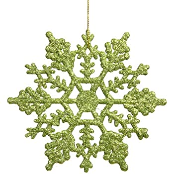 Amazon.com: Vickerman Assorted Shape Swirl Ornament, 95mm, Lime ...