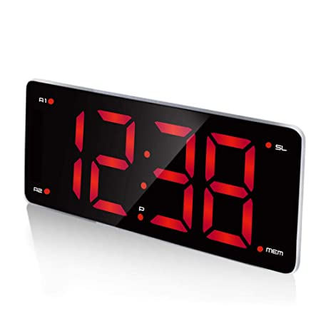 FPRW Reloj Despertador Digital, Reloj de Radio LED FM, con Doble ...