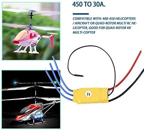 FairytaleMM Contrôleur de Vitesse de Moteur sans Balai RC Bec ESC 30A sans Balai T-Rex 450 V2 Bateau hélicoptère I403 Pièces et Accessoires d\'avions (0)