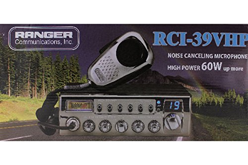 Ranger RCI-39VHP AM/PA Black with Chrome Face 10 Meter Amateur Mobile Radio Transceiver