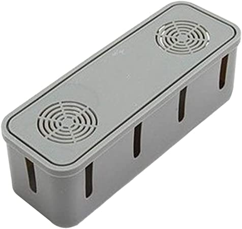 Kanggest.Caja Organizador de Cables Caja Organizadora Cables Caja de Cables para Almacenaje de Cables Eléctricos, Alargadores, Cargadores, Regletas: Amazon.es: Hogar
