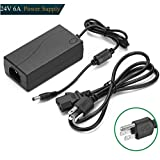 Topled Light Universal 24V 6A Power Supply Adapter Convert AC 100-240V To DC with 5mm Output Jack for 5050/3528 LED Strip, Rope Light, Tape Lighting, LED Under Counter Light