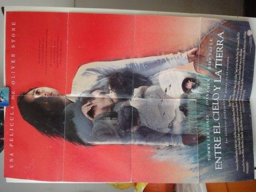 Original Spanish Movie Poster Heaven & Earth Entre El Cielo Y La Tierra Tommy Lee Jones Oliver Stone 1993