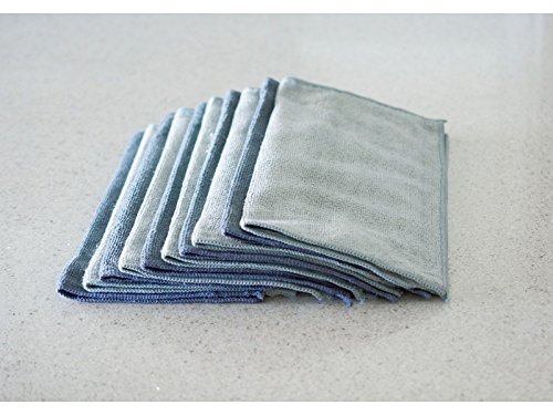 Sophisti-Clean Stainless Steel Microfiber Cloths 10pk, Soft Absorbent Non-Abrasive Cleaning Cloths, Lint Free - Streak Free, Easily Clean Without Chemicals, Gray - 2