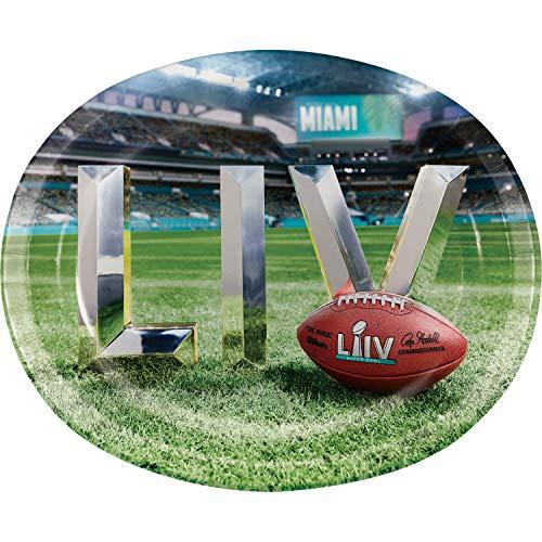 Super Bowl LIV Oval Paper Plates, 24 ct
