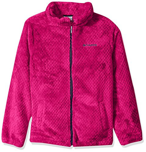 Columbia Girls' Big Fire Side Sherpa Full Zip, Cactus Pink/Nocturnal, Large