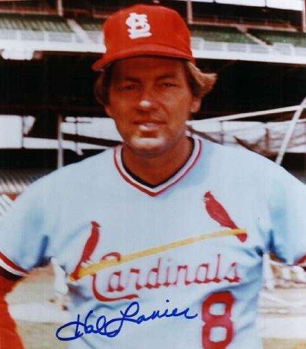 Autographed Hal Lanier St. Louis Cardinals Photo