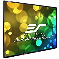 Elite Screens WhiteBoardScreen Series, 80-inch Diagonal 4:3, Ceiling Light Rejecting and Ambient Light Rejecting Dry Erase Projection Screen, WB80V
