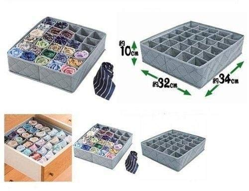 Agua y madera 30 celdas de bambú carbón lazos Calcetines Ropa interior organizador caja de almacenaje cajones envío gratis