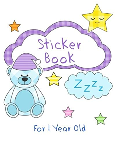 Sticker Books For 1 Year Old: Blank Sticker Book, 8 X 10, 64 Pages Download