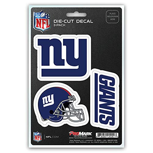 NFL New York Giants Team Decal, 3-Pack