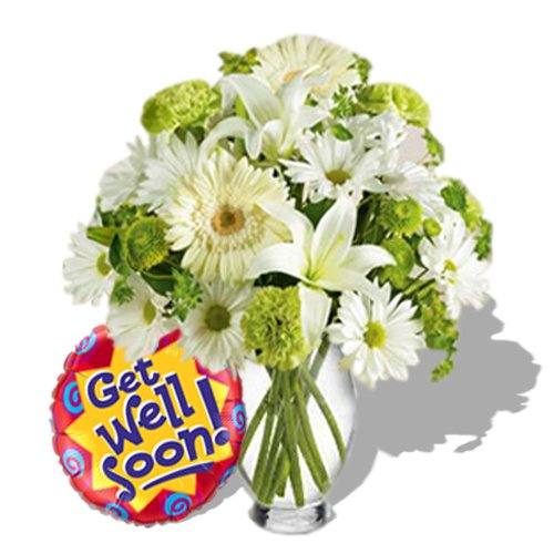 Morning Fresh with Get well balloon by Send Gifts