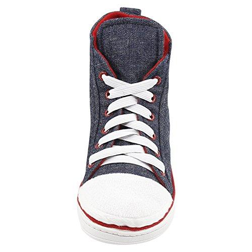 Gohom Hombres Fashion Winter Household Slipper Botas Sneaker Jean Navy Us Talla 8