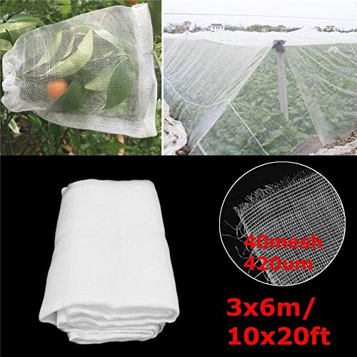 10x20ft Anti Bird Net Crop Vegetable Predection Mosquito Netting Bug Insect Fine Mesh Garden Vegetable Greenhouse Pest Control